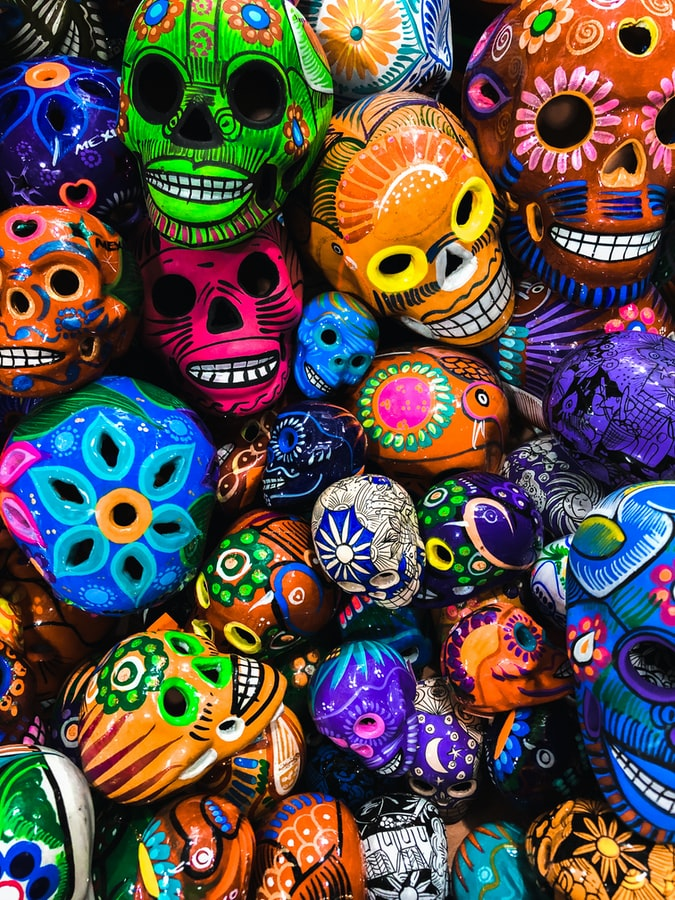 meksiko, mexico, dia de muertos, dan mrtvih, oslikane lobanje, suveniri